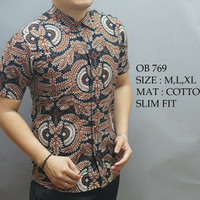 TERBARU !!! Hem Baju Batik Pria Modern Body Slimfit OB 769