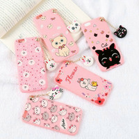 Case Cartoon With Hanging 3D Head Toy Xiaomi Redmi 3S / 3 Pro