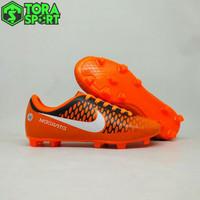 Sepatu Bola Anak Nike Magista Orange Hitam List Putih Terbaru 2018