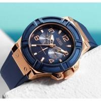 Jam Tangan GUESS Rigor Blue W0247G3 Karet Pria Premium Quality