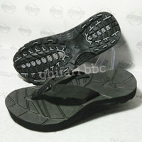 sandal sendal wanita pria premium eiger model jepit elegant black pro
