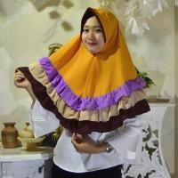 Kerudung Hijab Jilbab Instan Remaja Amanda Rempel Mustard Terbaru