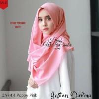 Pashmina Hijab Jilbab Kerudung Instan Davina Model Terbaru Warna Pink