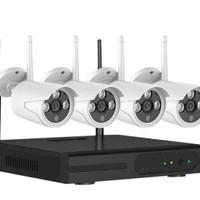 PAKET CCTV 4 IP CAMERA WIRELESS SUPER HD WIFI KAMERA