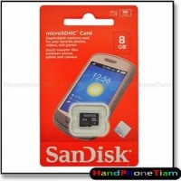 BGR Memory Sandisk 8GB Class 4 Micro SD card mmc memori hp external 8