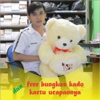 Boneka Beruang Teddy Bear I Love You Cream Besar 80 cm (SNI)