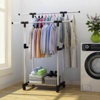 Standing Hanger Rak Gantungan Baju Indoor Etalase Toko Rak Sepatu Mira