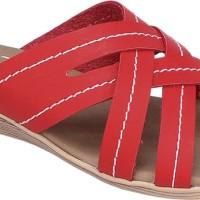 Sandal Wedges / Selop Casual Wanita  merah Raindoz RLD 025 Cibaduyut