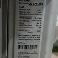 AC Panasonic CU-XN9RKJ