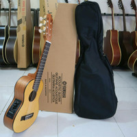 Guitalele,Gitarlele Original GL1 semi Elektrik - Cokelat Muda