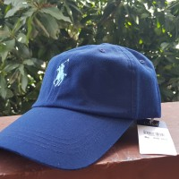 Cap POLO Navy Leather Strap Original (Topi Polo) 2aace5512c
