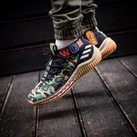 c13e3ba8a5 BAPE X Adidas Dame 4 Camo Green Sepatu Sneakers Jalan Pria