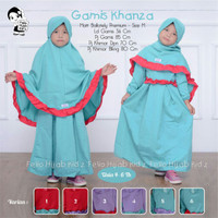 gamis jilbab anak khansa baju muslim anak syari ori 4 5 6 tahun polos