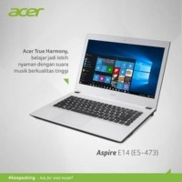 LAPTOP ACER E5-473 14'' CORE i3-5005U/ RAM 2GB/500GB WIN 10