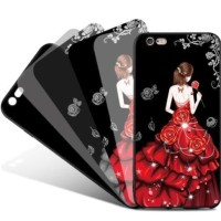 Softcase Tpu 3d Cute Girl Gaun Cover Case Casing For Hp Vivo V3 Lucu
