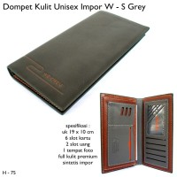 DOMPET PRIA WEICHEN WALLET LEATHER KULIT FLIP BROWN