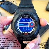 JAM TANGAN CASIO G-SHOCK DIGITAL GD 350 FULL BLACK SUPER