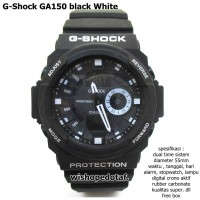 JAM TANGAN CASIO G-SHOCK GA 150 FULL BLACK DUAL TIME BLACK KW SUPER
