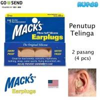 Macks Earplugs Dewasa Penutup Telinga Earplug Mack's