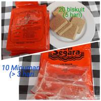 Harga paket ransum biskuit minuman alternatif hardtack camping survival | antitipu.com