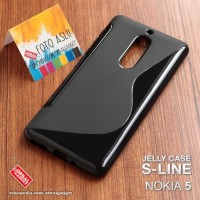 Nokia 5 Silikon Jelly Karet Back TPU BLACK Soft Case Cover Casing