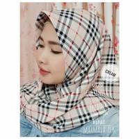 Jilbab Segitiga Instan Bahan Maxmara Silk Motif 4