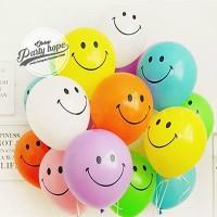 balon latex smile / balon smile / balon latex ekspresi / balon emoji