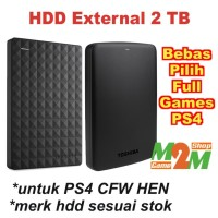 HDD Hardisk External 2TB 2 TB Hard Disk Harddisk FULL GAMES PS4