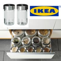 IKEA DROPPAR TOPLES BUMBU DAPUR 2 PCS KACA FROSTED, BAJA TAHAN KARAT