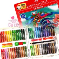 Faber Castell Hexagonal Oil Pastel Crayon 60 Colours Warna