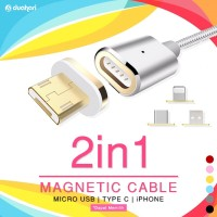 2IN1 Magnetic Cable ANDROID TYPE C / MICRO USB / IPHONE Magnetic phone