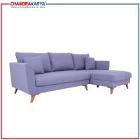 Sofa L Minimalis Quality Laura - Abu-Abu - Sofa Ruang Tamu Modern
