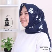 Jilbab Square Segi Empat Motif Bahan Halus Adem