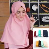Khimar Bergo Hijab instan Jilbab Instan Kerudung Khimar Bella 2 Layer