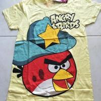 Jual Kaos Anak Perempuan Angry Birds Topi Murah