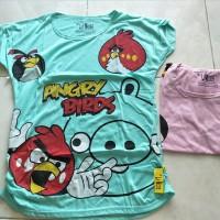 Jual Kaos Anak Perempuan Angry Birds Lipit Murah
