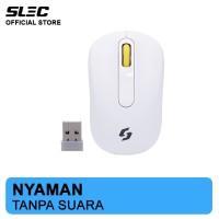 Mouse Wireless SLEC NC18 Silent Click - Putih