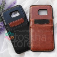 Leather Case Samsung S7 Edge With Card Slot