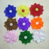 Jual aksesoris wanita / souvenir / bros flanel bunga adenium Murah