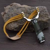 Ketapel Aluminium Berburu Slingshot Catapult Handheld Survival Tools