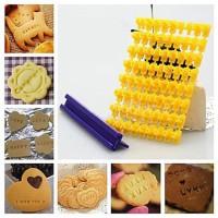 Cetakan Kue Kering Cookies Cutter Biskuit Letter Press Set Huruf Angka