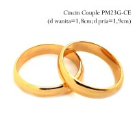 PM23G-CE Cincin Couple Perhiasan Lapis Emas Couple Murah Unik Cantik