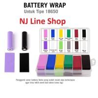 Battery Wrap 18650/Plastik pelindung Baterai/Pelapis Baterai/PVC Batre