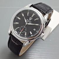 Jam tangan rolex otomatis terbaru tali kulit kw super