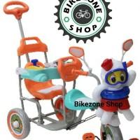 Sepeda Anak Roda Tiga Family Boncengan 2 kursi Octopus model baru