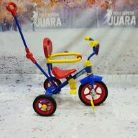 sepeda roda 3 pengaman tongkat dorong pmb safari 912 merah bmx