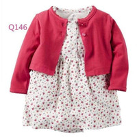 BABY DRESS JUMPSUIT RED CARDI