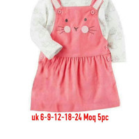 BABY DRESS LONG SHIRT CUTE PINK
