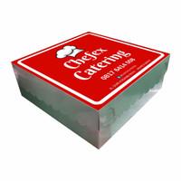 Kotak Dus Box Nasi 20 x 20 x 8 -  Dupleks Cetak 1 Warna + Laminasi