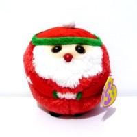 Boneka Santa Claus Sinterklas Kringle Original TY Beanie Ballz 81d71811dc